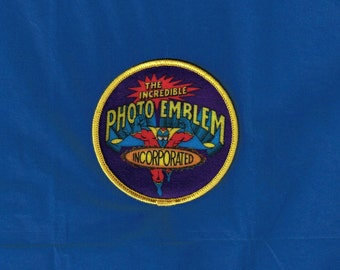 Vintage The Incredible Photo Emblem Incorporated Iron On Patch