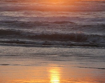 Nature Photography Pacific Ocean Sunset Arch Cape Beach Oregon Coast