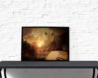 Fantasy poster Living room decor Fairy Tales print