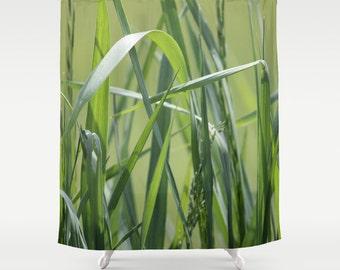 Green Grass,Shower Curtain,Shades of Green,BathCurtain,Bathroom Decor,Accessories,Bathroom Art,Designer Curtain,Interior Design,Summer Decor