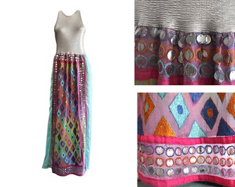Aqua and silver dress