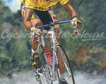 Laurent Fignon Tour de France 1989 Fine Art Print