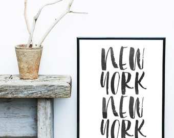 New York Print,  Printable Wall Art, Typography Print, Wall decor,  Modern Wall Art, Digital download