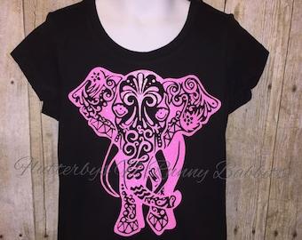 Tribal elephant shirt