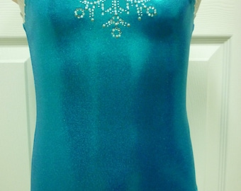 Elsa Frozen Leotard with Bling -  Size 2T, 3T, Girls 4 to 16