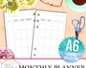 A6 - Monthly Planner - Scribble Collection