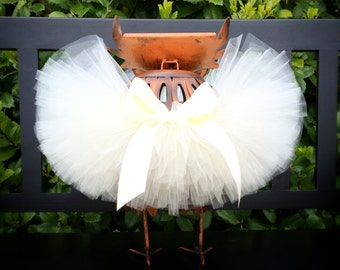 Newborn Tutu, Ivory Tutu, Baby Tutu, Toddler Tutu, Infant Tutu, Photo Prop Tutu, Wedding Tutu, Christening Tutu, Flower Girl Tutu, Baptism