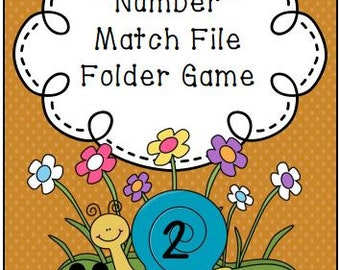 Number Match File Folder Game