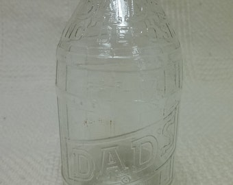 Vintage Clear Dad's Root beer Glass Bottle