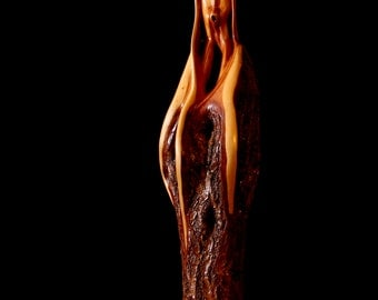 "Wood Carving, Wood Sculpture, Diamond Willow, Tree Spirit, ""The Ancient"""