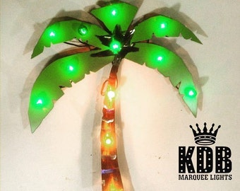 "Palm Tree Marquee Light - 28"" High"