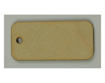 10 Rectangle Blank Wood Tags