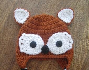 Looking Foxy! Crochet Hat