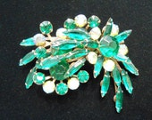"Rhinestone ""Palm Tree Top"" Brooch/Pin"