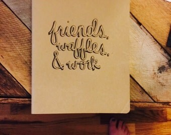 Personalized Hand-lettered Parks and Recreation Journal