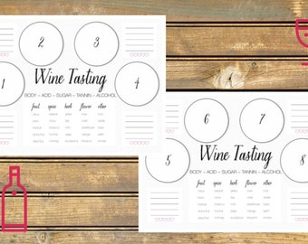Wine Tasting Scorecard Printable