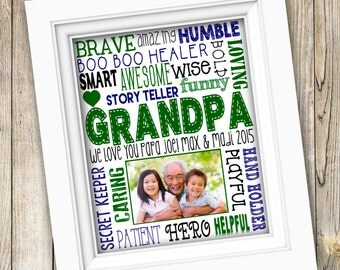 Father's Day Gift ~ Printable Grandpa Gift From Grandkids ~ Grandpa Birthday Gift From Kids ~  Gramps Papa Grandfather ~ Digital Image JPEG
