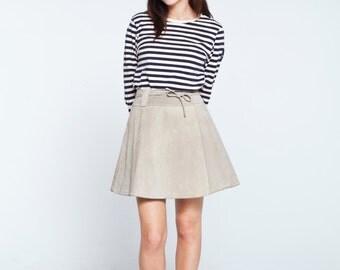 SALE*** vintage grey wrap suede skirt