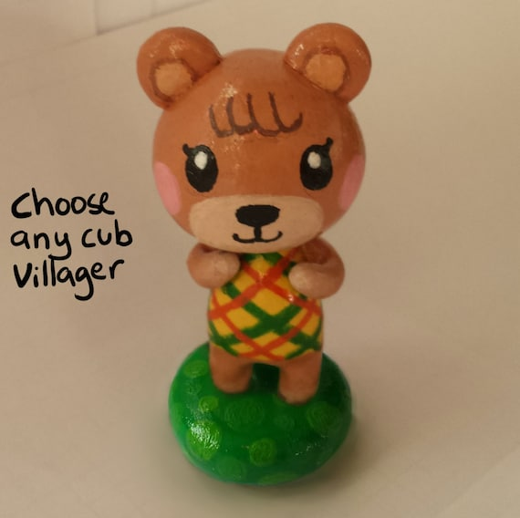 Animal Crossing Figures Bear Cub Villagers by CactusCatCraft