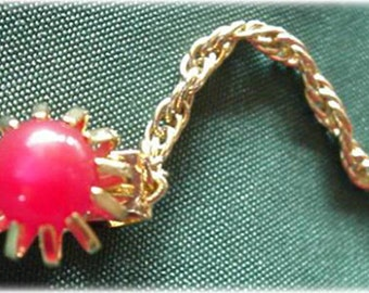 Cherry Red Lucite Sweater Guard