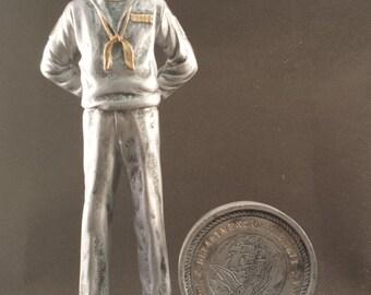 Navy Seaman Resin Statue - FREE ENGRAVING