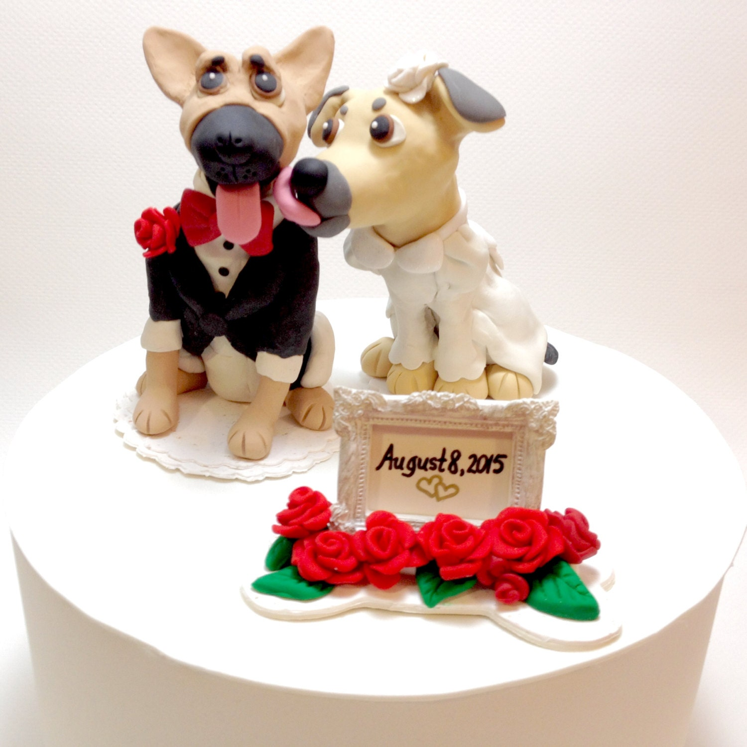 Dog Wedding Cake Topper German Shepherd Cake by DogCakeTopper