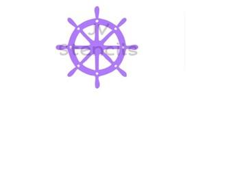 Boat Wheel Stencil