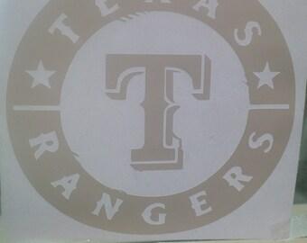 Texas Rangers Vinyl Decal