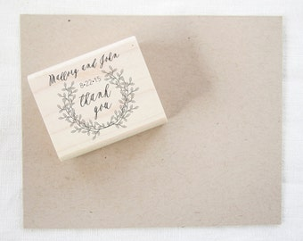 Wedding Favor Stamp - thank you stamp - wedding stamp - custom stamp - custom wedding stamp - favor stamp - rubber stamp - thank you - Z1027