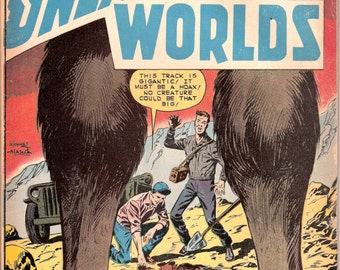 Bigfoot, Sasquatch comic book, Mysteries of Unexplored Worlds 15. Horror, Silver Age. 1959 Charlton Comics in VGFN (5.0)