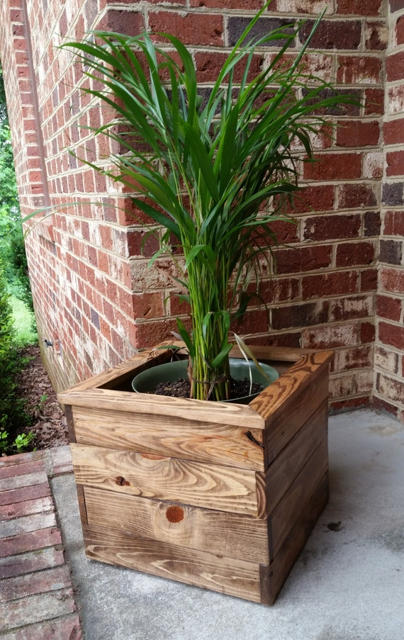Reclaimed Pallet Wood Indoor Planter Box By Ajscreationsco