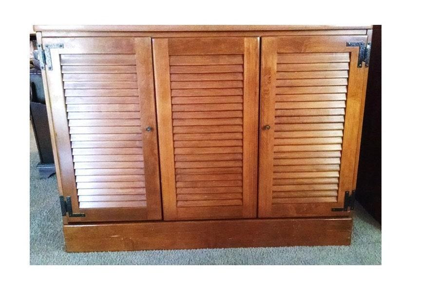 Ethan Allen Shutter Door Heirloom Desk Bar Hutch Cabinet
