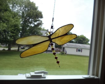 Stained Glass Dragonfly, suncatcher