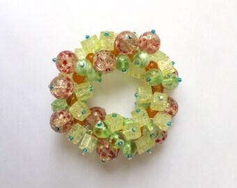Summer Citrus Cluster Bracelet