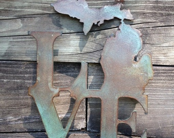 Metal Art- Michigan Love
