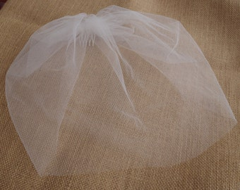 Ivory Tulle Birdcage Petite Veil Tulle Veil Birdcage Veil Vintage Style Veil Mini Blusher Illusion Tulle Veil wedding veil Mini Veil Sale