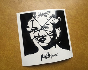 Madonna Rebel Heart album cover vinyl sticker decal