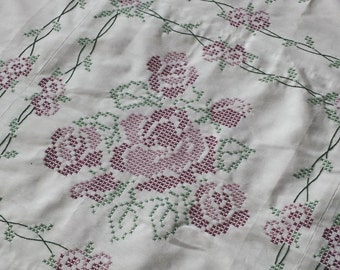 Hand Embroidered Quilt Top
