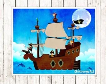 Kids Pirate Room Decor Etsy