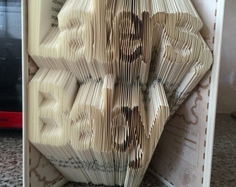 Laters Baby -  Fifty Shades of Grey Quote - Book Folding Pattern - 369 folds - Easier than it looks!  Full tutorial included