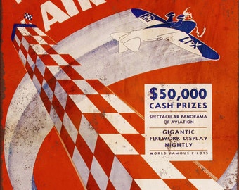 1933 National Air Races Vintage Look Reproduction Metal Sign