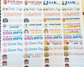 Back to School planner stickers -  stickers for planners, journals, scrapbooks and more!