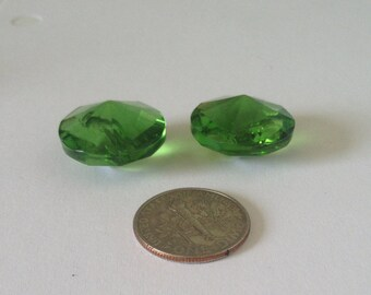 Green Glass Vintage Buttons