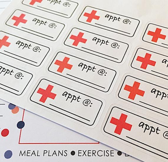 Calendar Planner Reminder Stickers : Doctor appointment reminder planner stickers dr