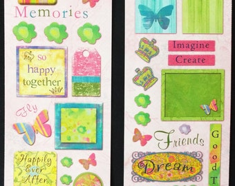 Miss Elizabeths Fairytale Tags Sticker Sheet Double Sided Acid Free Lignin Free NEW