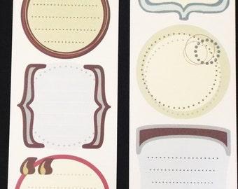 Miss Elizabeths Journals Sticker Sheet Double Sided Acid Free Lignin Free NEW