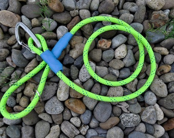 Lime Green and Blue Climbing Rope Leash