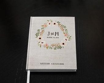 Wedding Guest Book - Wedding Guestbook - Custom Guest Book - Personalized Guestbook - Rustic Guestbook - Wedding gift - Wedding Keepsake
