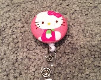 Hello Kitty Badge Reel ID Holder