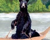 Bears in Boat Giclée Print
